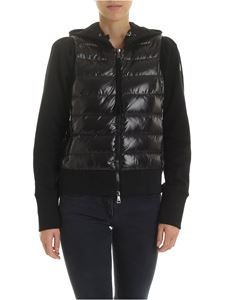 Moncler - Black hoodie with padded insert