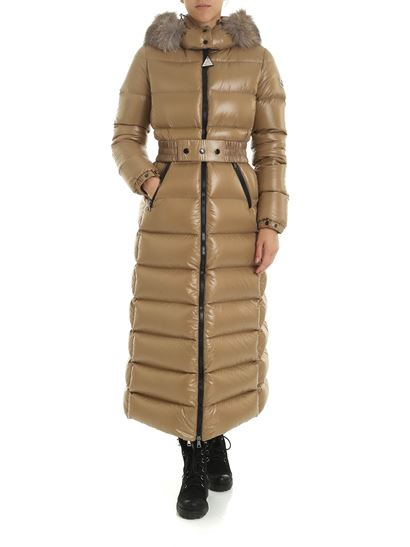 info for 50d9c a52c8 Moncler Autunno Inverno 19/20 piumino lungo hudson beige ...