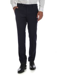 PT01 - Blue micro-checked trousers