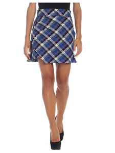 Pinko - Sganciare skirt in blue and white