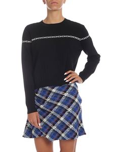 Pinko - Meno sweater in black with white print