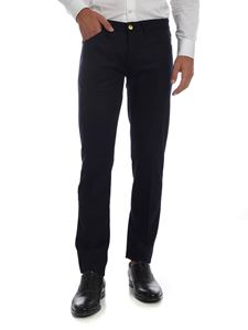 PT05 - Blue stretch wool trousers