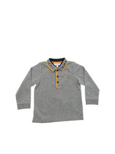 Emporio Armani - Grey polo shirt with yellow details