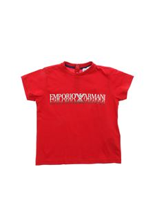 Emporio Armani - Red T-shirt with logo print