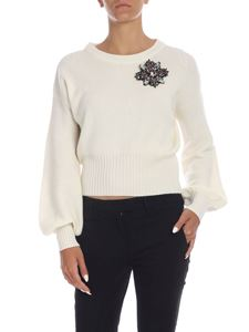 Pinko - Chissa pullover in ivory color