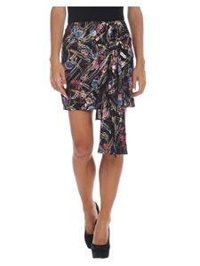 Pinko - Pendre skirt in black with floral pattern