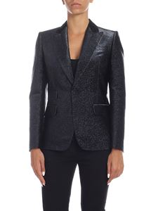 Dsquared2 - Lamè jacket in black and blue