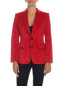 Dsquared2 - Giacca in corduroy rossa