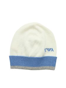 Emporio Armani - White and light blue beanie