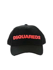 Dsquared2 - Hat with fluorescent pink logo in black
