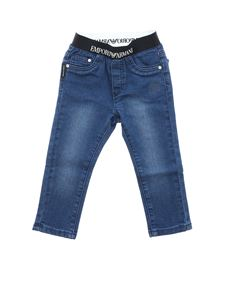 Emporio Armani - Blue jeans with logo band