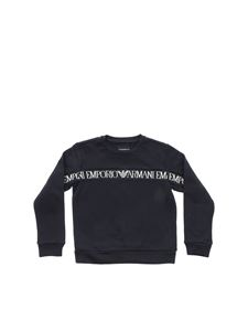 Emporio Armani - Blue sweatshirt with embroidered logo