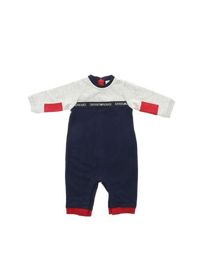 Emporio Armani - Blue grey and red rompersuit