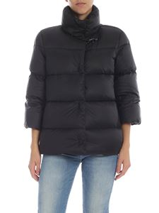 Fay - Short down jacket in black with Fay hook
