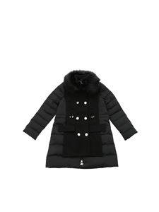 Elisabetta Franchi - Black down jacket with eco-fur