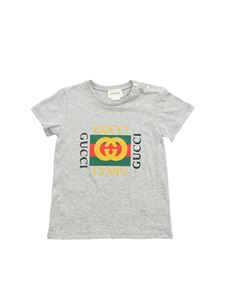 Gucci - Grey T-shirt with logo print