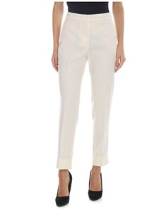 PT01 - Andrea trousers in ivory color