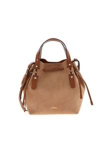 Hogan - Brown bucket bag with golden logo