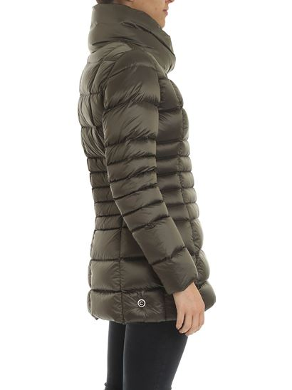 Colmar - Long Crop Place down jacket in Army green color