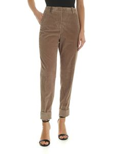 Peserico - Corduroy trousers in beige color