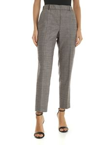 Peserico - Beige trousers with checked pattern
