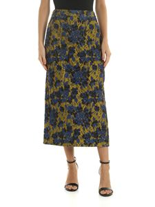 Aspesi - Green skirt with floral pattern