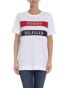 Tommy Hilfiger - Branded bands T-shirt in white