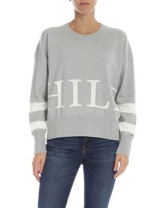 Tommy Hilfiger - Lamé pullover in gray with logo
