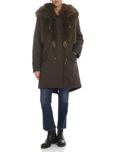 Dondup - Parka with faux fur Army green