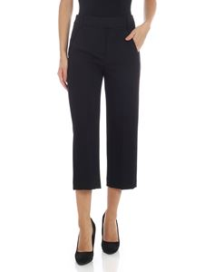 Dondup - Flared crop trousers in black