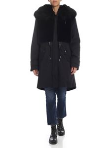 Dondup - Eco fur parka in black