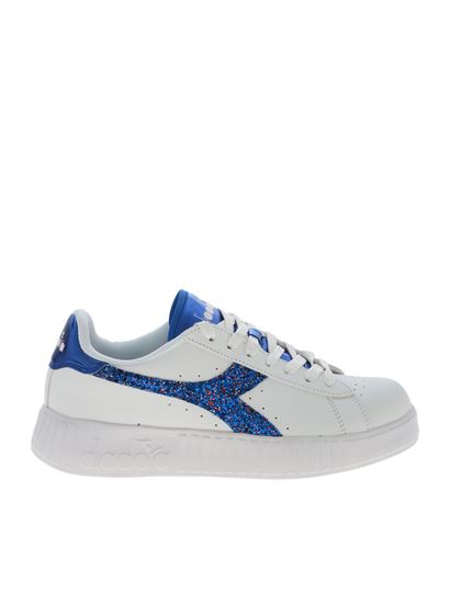 Diadora - Game P Step Wn sneakers in white and blue