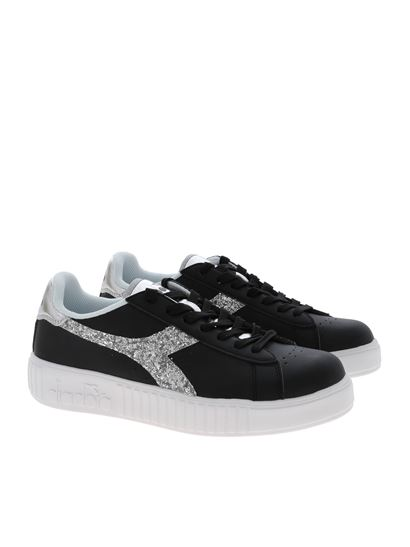 Diadora - Game P Step Wn sneakers in black and silver