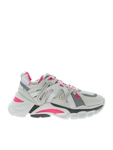 Ash - Sneakers Flash bianche e fucsia
