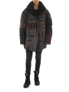 Rundholz Black Label - Multicolor hooded down jacket