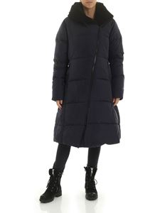 Rundholz Black Label - Blue long hooded down jacket