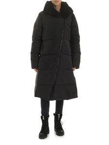 Rundholz Black Label - Black long hooded down jacket