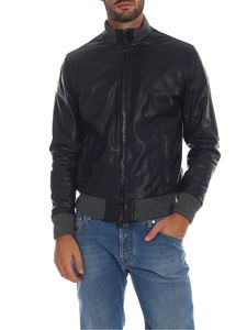Volfagli - Zingaretti bomber jacket in blue leather