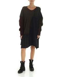Rundholz Black Label - Asymmetric oversize dress in multicolor