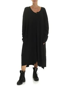 Rundholz Black Label - Black oversize flared dress