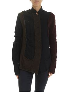 Rundholz Black Label - Multi-fabric cardigan in multicolor