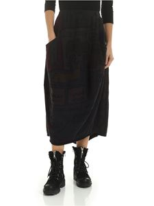 Rundholz Black Label - Long skirt in multicolor with black prints