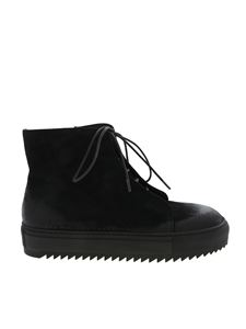 Rundholz Black Label - Black high-top sneakers with zip