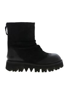Rundholz Black Label - Black ankle boots with maxi-sole