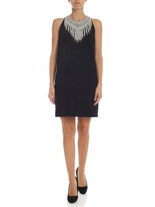 Dondup - Black dress with jewel neckline