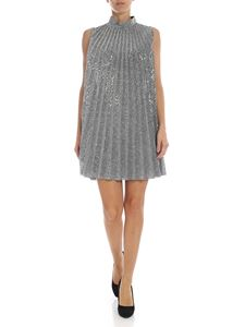 Dondup - Silver pleated dress with sequins