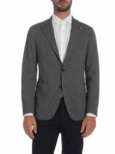 Tagliatore - Jacket with black and gray micro-pattern