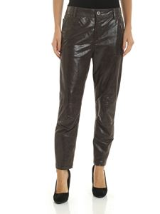 Lorena Antoniazzi - Crackle effect trousers in grey color