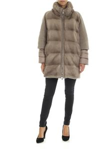 Moorer - Antiope-Kas down jacket in beige