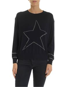 Lorena Antoniazzi - Blue pullover with embroidered star